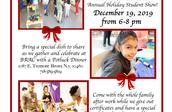 Annual Holiday Student Show and Potluck Party